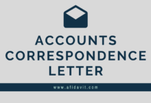 Photo of Accounts Correspondence Letters: Letter of Accounts Correspondence Format, Samples, Templates and Examples