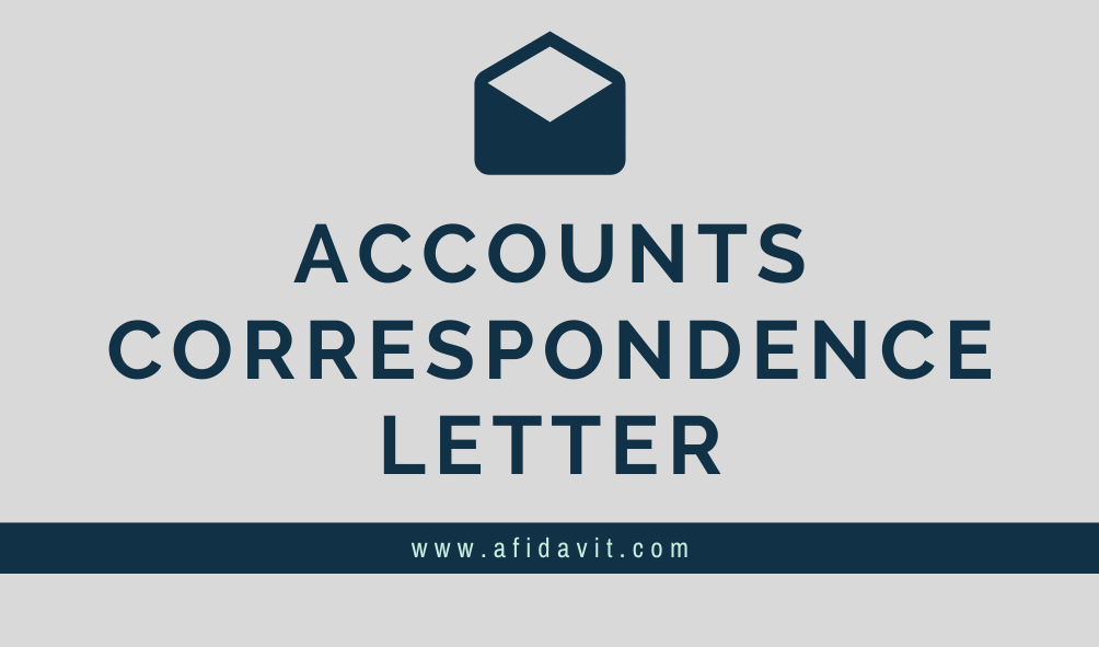 Accounts Correspondence Letters Letter of Accounts Correspondence Format, Samples, Templates and Examples