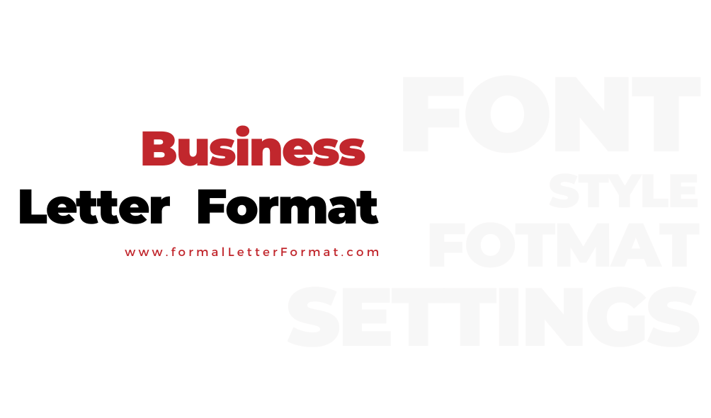 Business Letter Format Business Letter Samples, Business Letter Templates and Examples