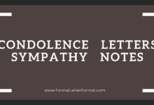 Photo of Condolence Letter Format: Sympathy Note Sample, Letter of Condolence Samples, Sympathy Note Examples