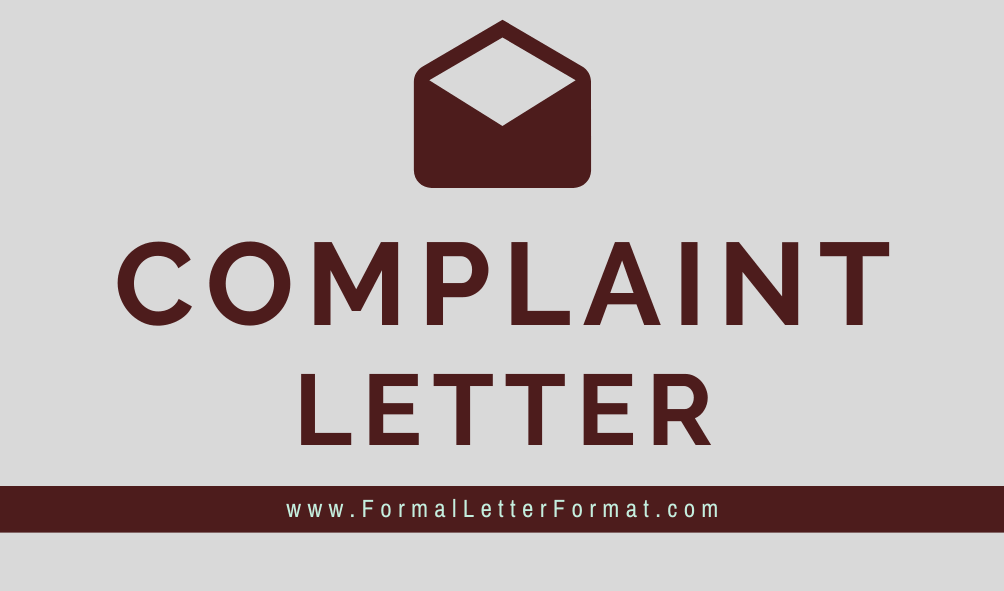 Letter of Complaint Format Samples, Topics, Templates Examples, Tips