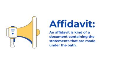 Photo of Affidavit Document Letter: Affidavit Definition, Understanding Affidavits