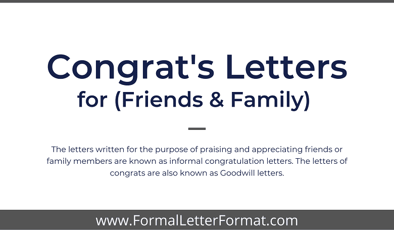 Photo of Congratulation Letters for Friends and Family – Write a Congratulation letter or a Congrats Note to a Friend