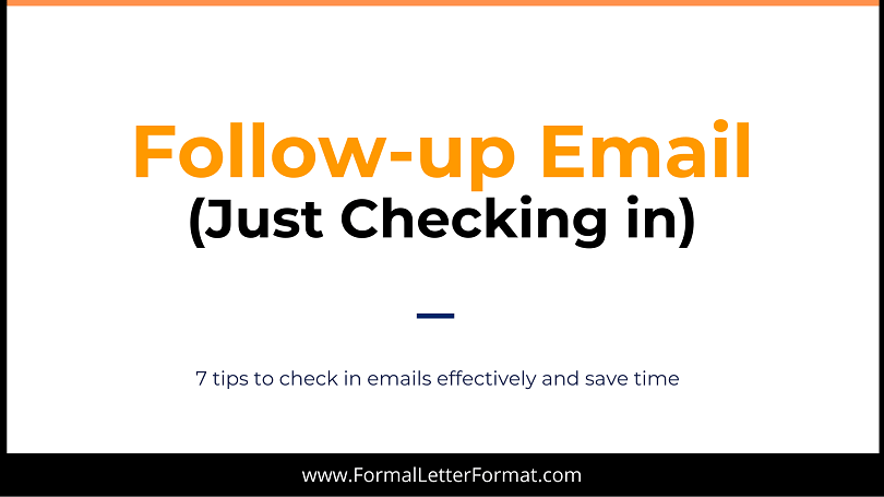 Follow-up Emails - Just Checking in Follow-up an Email with following Tips