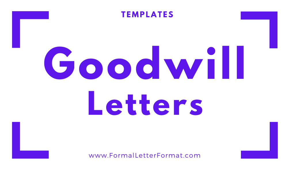 Goodwill Letters Thankyou Letters, Sympathy Letters, Congratulatory letters format, samples, and templates