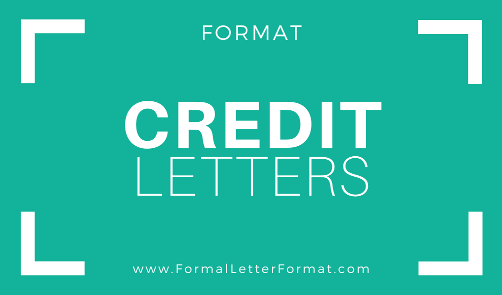 Credit Explanation Letter Sample from formalletterformat.com