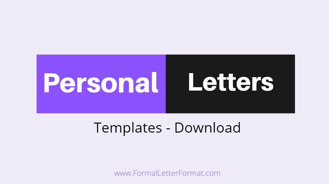 Personal Letter - How to Pen Down a Personal Letter.