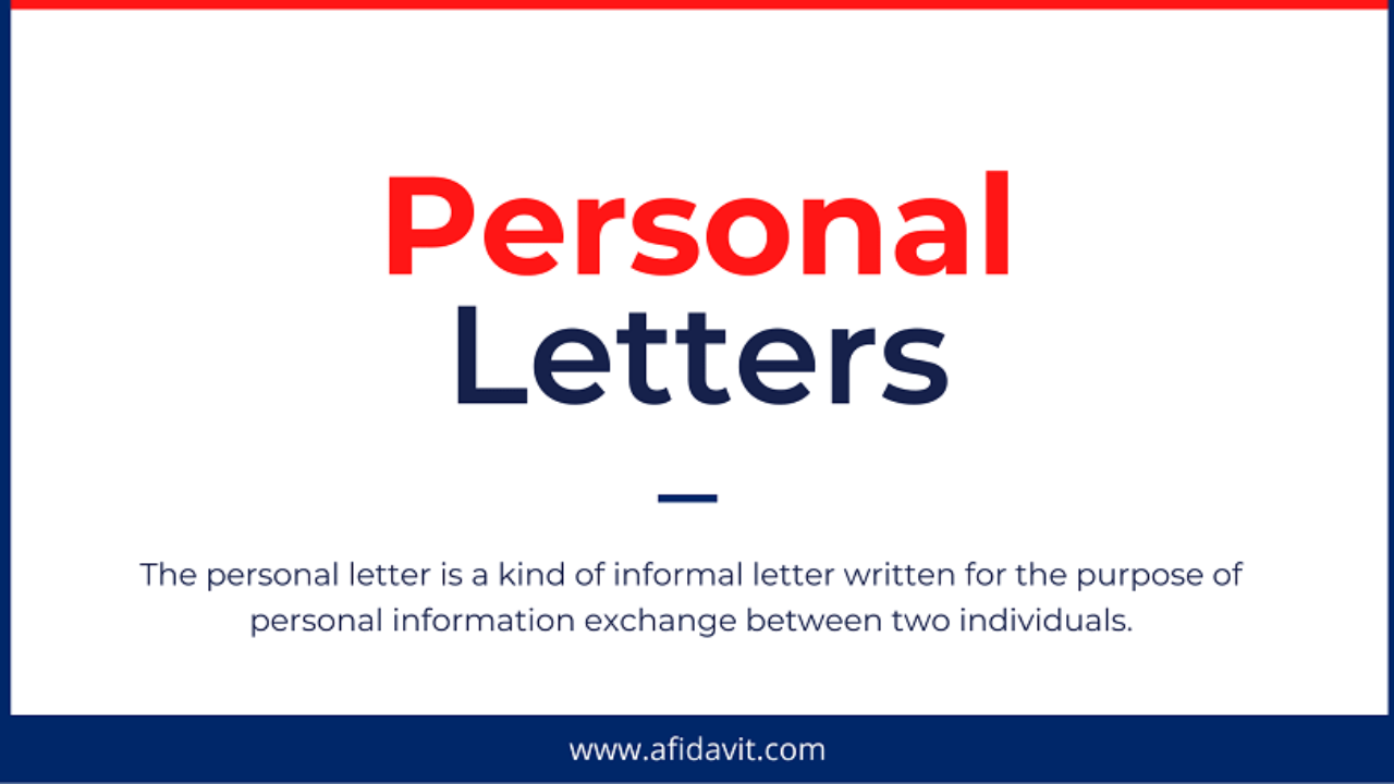 Personal Letter Writing Format from formalletterformat.com