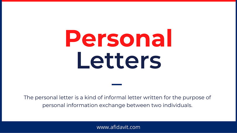 Personal Letters Personal Letter Format - How to Write a Personal Letter