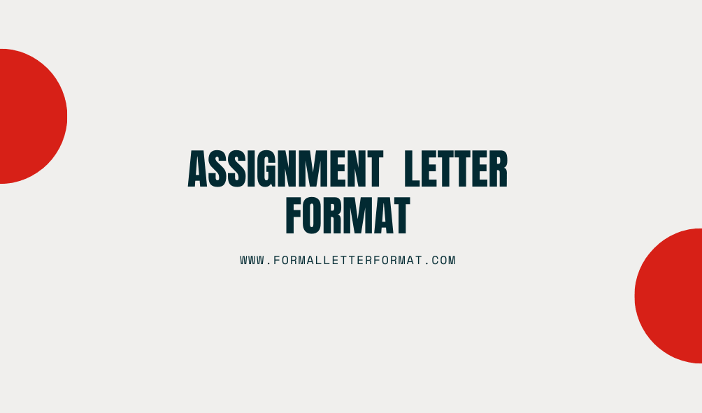 Rights Assignment Letter Format Letter of Assignment Sample and Template