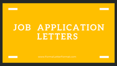 Photo of Templates For Excellent Job Application Letter: Application letter for Job Format and Samples