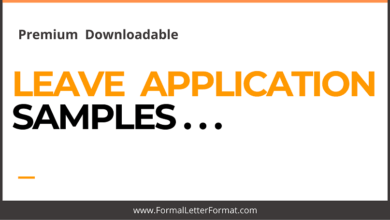 Photo of Samples for Leave Applications [Word/PDF Samples] Download